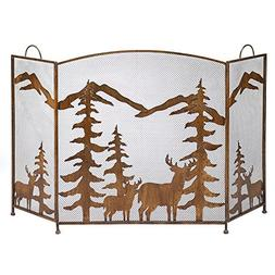 Koehler 12295 32.375 inch Rustic Forest Fireplace Screen