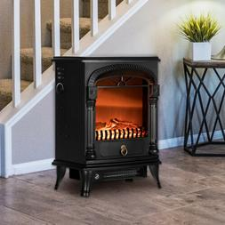 "VIVOHOME 20"" Electric Fireplace Space Heater Fire Wood 3D Fl"