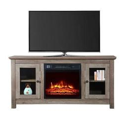 """1400W Electric Fireplace TV Stand 51"""" Wood Console Heater En"""