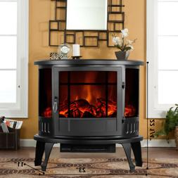 "1500W 23"" Adjust Electric Fireplace Free Standing Heater Woo"