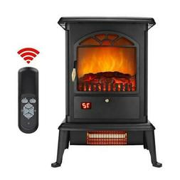 ZOKOP 1500W Electric Fireplace Space Heater Log 3D Flame Sto