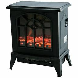 """16"""" 1500W Freestanding Indoor Electric Fireplace Heater Stov"""