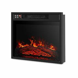 """18""""Embedded Electric Fireplace Insert Remote Heater Adjustab"""