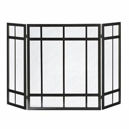 Pleasant Hearth 3-Panel Mission Style Fireplace Screen