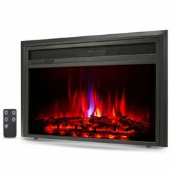 """32"""" Recessed Electric Heater Fireplace Insert 6 Flame Effect"""
