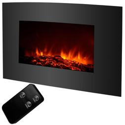 "Kenwell 33""x22"" 1500W Electric Fireplace Wall Mount Heater w"