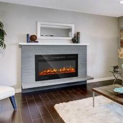 36''/40''/50''/60''Electric Fireplace Insert Heater Recessed