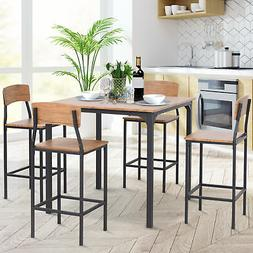 HOMCOM 5 Piece Modern Small Kitchen Table and Chairs Dining