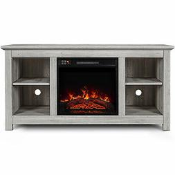 "50"" Kenton Wood Fireplace Heater TV Stand Console For TV's U"