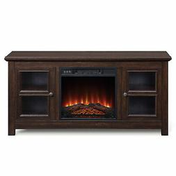 "50"" TV Console Stand With Electric Fireplace Heater for TV's"