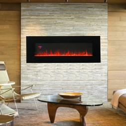 "50"" Wall Mount Electric Fireplace Heater Multicolor 3D Cryst"