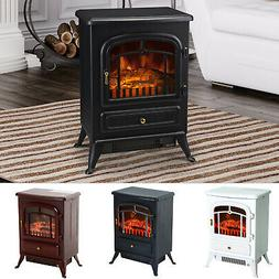HOMCOM 750/1500W Portable Electric Fireplace Stove Heater Ad