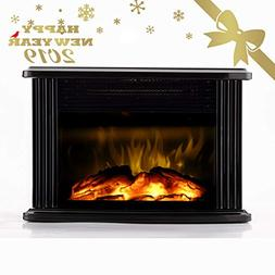 Warmtec 750W/1500W 14'' Mini Electric Fireplace Heater Table