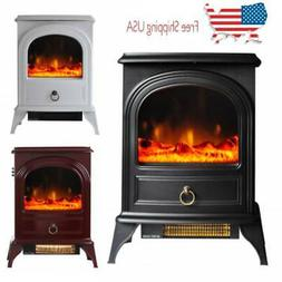 750W /1500W Adjust Electric Fireplace Free Standing Heater W