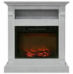 Cambridge Sienna Fireplace Mantel with Electronic Fireplace