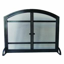 Pleasant Hearth Harper Arched Fireplace Screen with Doors