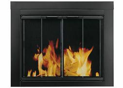 Ascot Fireplace Screen and Bi-Fold Track-Free Glass Door, Me