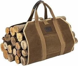 BHD Firewood Fireplace Carrier Logs Tote Holder 20 oz Waxed