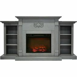 Cambridge CAM7233-1GRY Sanoma 72 In. Electric Fireplace in G