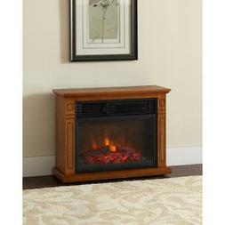 Electric Fireplace Heater Infrared Oak Mantle Portable Rolli