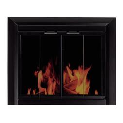 Pleasant Hearth Clairmont Fireplace Screen and Bi-Fold Track