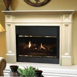 Classique traditional unfinished Fireplace Mantel, Pearl Man
