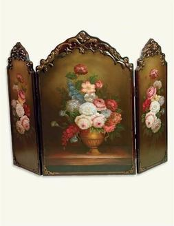 Victorian Trading Co Scarborough Hand Painted Floral Firepla