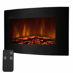 adjustable electric wall mount fireplace heater w