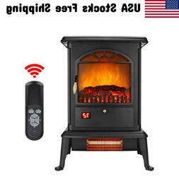 Electric Fireplace 3D Flame Stove Heater Remote Freestanding