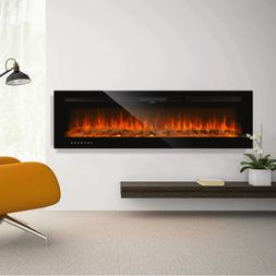 Electric Fireplace 750/1500W Recessed Wall-Mounted Touch Scr