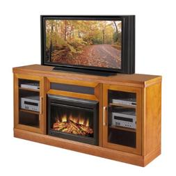 Electric Fireplace in Light Cherry Finish
