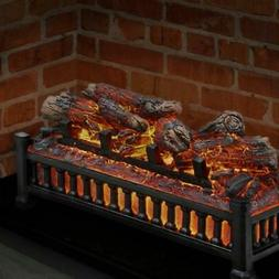 Electric Fireplace Logs Fake Wood Burning Insert Glowing Cra