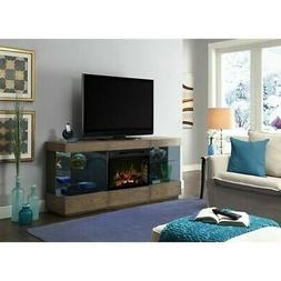 Bowery Hill Electric Fireplace TV Stand with Logset in Raked
