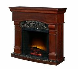 Electric Fireplace Wood Mantle Heater Stand LED Flames Displ