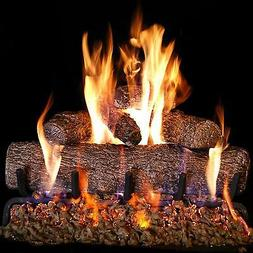 Embers Peterson Real Fyre 30-inch Oak Gas Log Set Vented Bur
