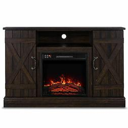 "Espresso Veropeso 46"" Fireplace Heater Television Stand For"