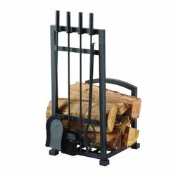 Pleasant Hearth FA338LT Harper Fireplace Log Holder with 4 P