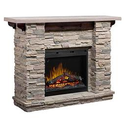 """DIMPLEX Featherston 61"""" Electric Fireplace Mantel in Faux Le"""