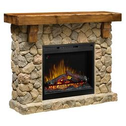 Dimplex Fieldstone Electric Fireplace & Media Console - Mant