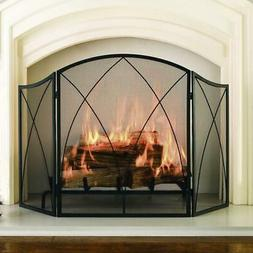 Fireplace Screen Arched 3-Panel Heavy duty mesh screen,Durab