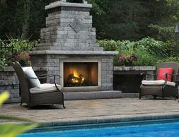 """Napoleon Gas Fireplace Outdoor Riverside GSS42 42"""" Clean Fac"""