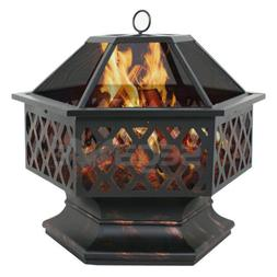 hex shaped patio fire pit
