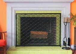 Minuteman International Harlequin Flat Fireplace Screen, 44
