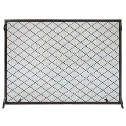 Minuteman International Harlequin Flat Fireplace Screen, 50