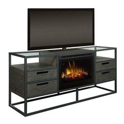 Dimplex Ivan Media Console Fireplace With Logs
