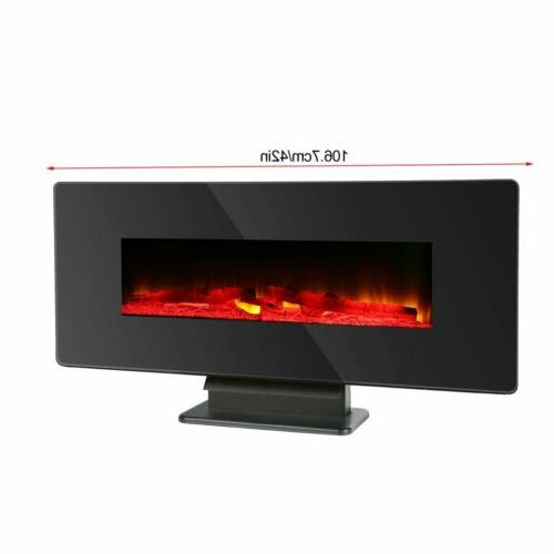 "42"" Fireplace Multicolor Crystal W/"
