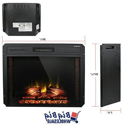 1400W Adjustable Fireplace Wall Insert Freestand w/ Remote