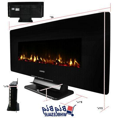 1400W Standing Electric Fireplace 7Color +Remote