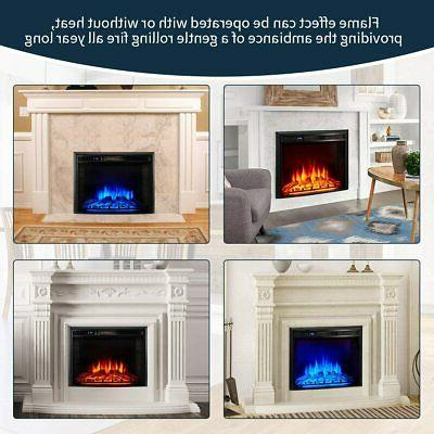 1400W Electric Insert Fireplace Heater Flame Fire with