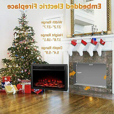1400W Insert Fireplace Fire with